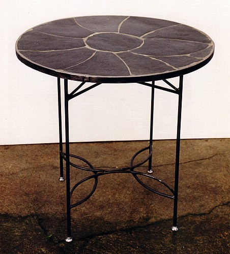 Table ardoise (diam 80 cm)